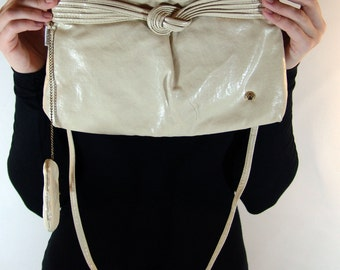 Vintage Creme BAG with a Coin PURSE, Night-Lites Holiday Fair Inc., 1970s