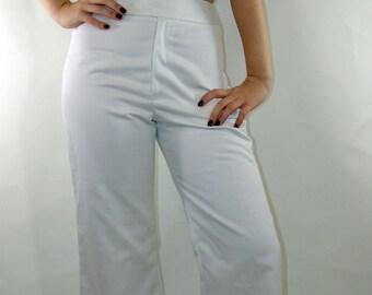 Vintage Sailor Style High Waist Wide Leg PANTS
