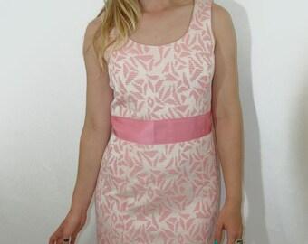 Vintage Jacquard DRESS, Ann Taylor, 1980s