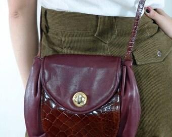 Vintage Leather  Purse, Mario Avane, 1980s