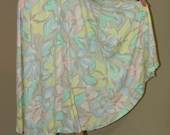 Vintage  Floral Long SKIRT, Chaus, 1980s