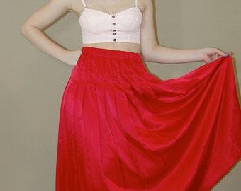 Vintage Red Pleated SKIRT, Marisa Christina Classics, 1980s
