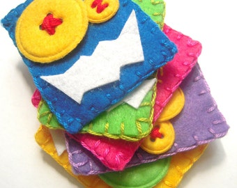 Refrigerator Magnets for Kids Fridge Magnets Magnet Set Monster Birthday Party Favors Felt Cute Monster Super Strong Neo Magnet