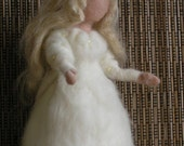 Needle felted Waldorf Snow Maiden. Winter. Waldorf Standing doll. Soft sculpture. Needle felt by Daria Lvovsky
