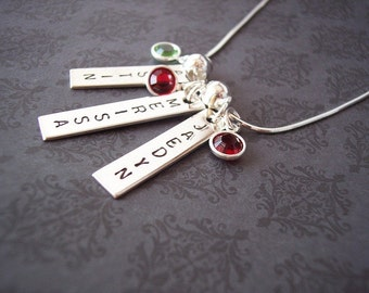 Hand Stamped Jewelry- Hand Stamped Necklace- Custom Jewelry- Custom Necklace- Say Anything Jewelry