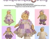 "Baby Doll PDF Sewing Pattern - Easy with Mix and Match Options for 15"" dolls - by Scientific Seamstress"