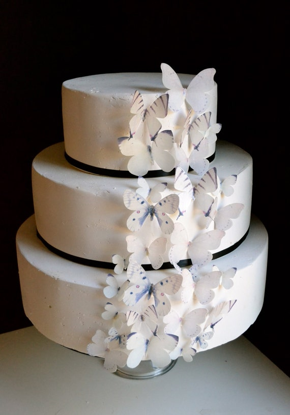 wedding cake edible decorations items similar to edible butterflies cake amp cupcake 8636