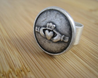 Claddagh Ring Silver - Handmade Irish Love Friendship and Loyalty by marleyjanedotcom on Etsy