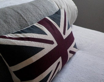 hand printed heritage union jack flag cover