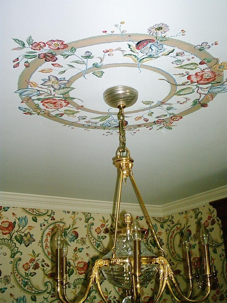 Hand Painted Ceiling Medallion Dining Room Decor Match