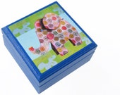 Baby Elephant Keepsake Box - Jungle Theme Novelty Box - Pick your own Color