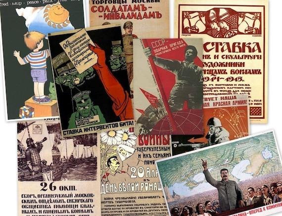 CD 4000 Images of Rare Communist Soviet PROPAGANDA POSTERS Afisha Kultura Reclama Social Aktual Kosmos Mir Peresto (Med to High Res)