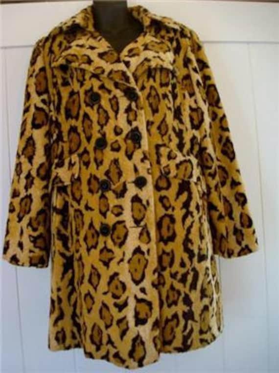 Vintage Faux Leopard Jaguar Fur Coat Jacket Jageela Donnybrook