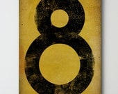 Number No. 8 - Gas Station Number / Graphic Art / Stretched Canvas wall art