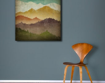 MOUNTAIN VIEW Smoky Mountains - Gallery Wrapped Stretched Canvas Wall Art - Signed