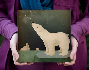 POLAR BEAR CONSTELLATION - Gallery Wrapped Canvas  signed and dated