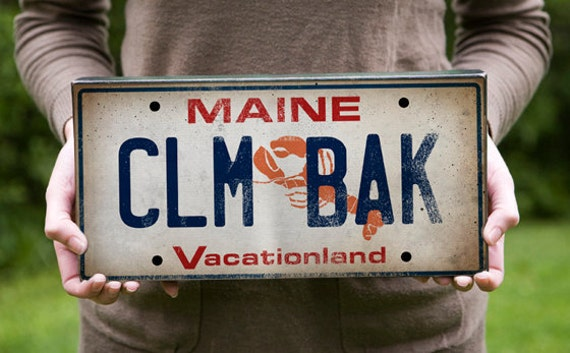 Custom MAINE Graphic Art Canvas Wall Art - Up to 18x36x1.5 inches - Signed