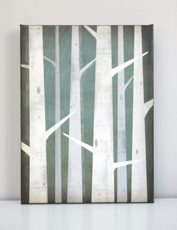 BIRCHES Gallery Wrapped Canvas Wall Art Ready-to-Hang  Signed FREE SHIPPING