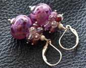 Tutti Frutti - Lampwork, Spinel and Sterling Silver Earrings