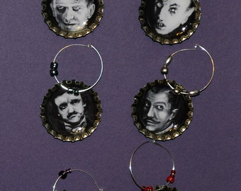 Icons of Horror Wine Charms