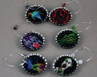 Wicked Fantasies Wine Charms
