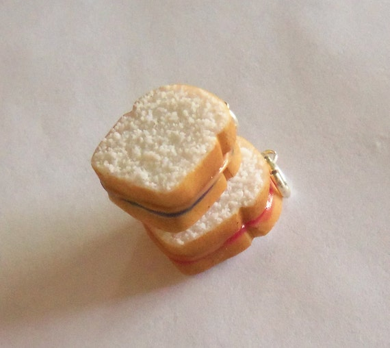 grape or strawberry peanut butter and jelly sandwich charm