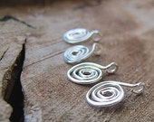 20g Sterling Silver Spiral Charms. Swirl Silver Dangles. Swril Drops. Handmade Jewelry Findings