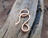 Copper Hook Clasp. Handmade Necklace Closure. Bracelet Clasp. 18 gauge Hand Forged Clasp for Necklaces, Bracelets - Artisan Clasps