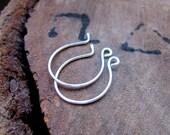 French Ear wire 20 gauge - Handmade Sterling Silver Earwires earrings - Hoop Style findings - Hoop Ear wires - Artisan Earwires - Round