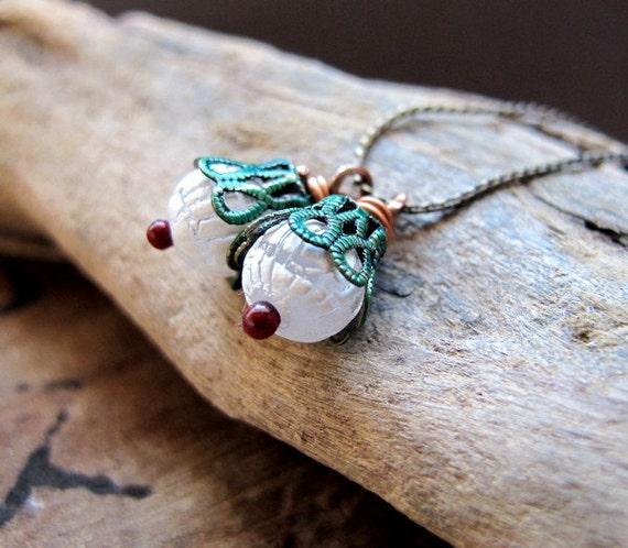 Vintage Style Bead Drop Dangles. Handmade Flower Earrings Findings. Handmade Jewelry Dupplies