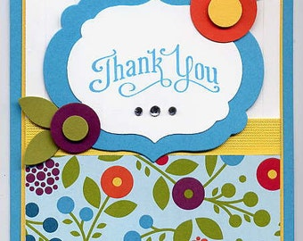 Stampin' Up! Summer Smooches  Thank You card