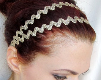 Grecian Headband Greek Goddess Gold Double Strand Wrap
