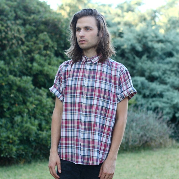 Woolrich Plaid Short Sleeve Button Up - M
