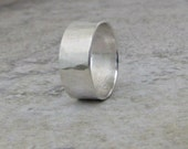 Mens Wedding Band Silver Wedding Ring Wide Rustic Wedding Bands Unique Wedding Bands Rugged Men's Jewelry Gift for Him by SilverSmack