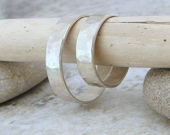 Engraved Wedding Bands Hammered Recycled Silver Wedding Ring Set Rustic Wedding Bands Unique Wedding Rings Eco- Friendly for Him and Her