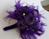 DIY Royal  Purple Bouquet KIT - Create your own bridal bouquet.
