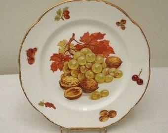 SALE - Vintage Autumn Jubilee Fine Bone China Plate - England