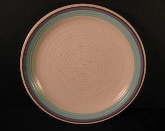 "4 Retro Malibu Franciscan Pottery 8"" Sandwich Salad Plates, 1964 , Gladding McBean, midcentury on Etsy by TheRetroLife"