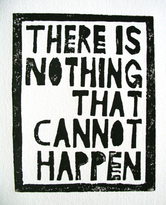 LINOCUT PRINT - Mark Twain quote - There is nothing BLACK letterpress typography poster 8x10