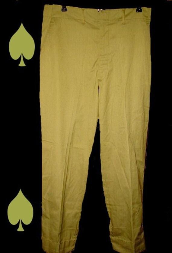 NOS Killer Mod Rat Pack Green Vintage 60s Cigar Pants 32 -on sale-