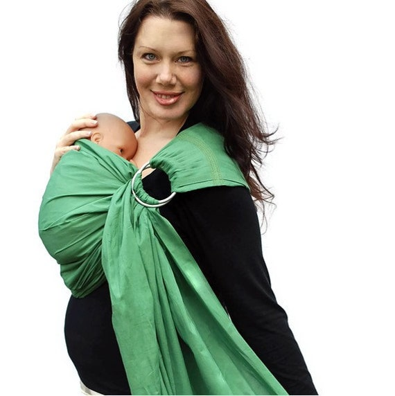 Ring Sling Baby Carrier Baby Basics Grass Green By Babyette