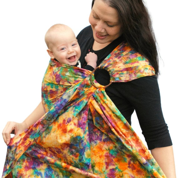 Ring Sling Baby Carrier Batik Color-Bomb Superwide - MADE TO ORDER Any Length