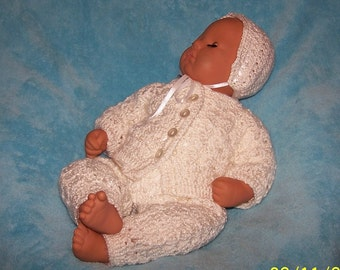 Newborn Preemie Blessing Christening Outfit Set