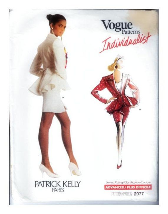 Vogue Patterns Patrick Kelly Paris Individualist 2077