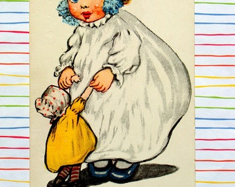 Goggle Eyes Baby Birthday Postcard, Katharine Gassaway 1906