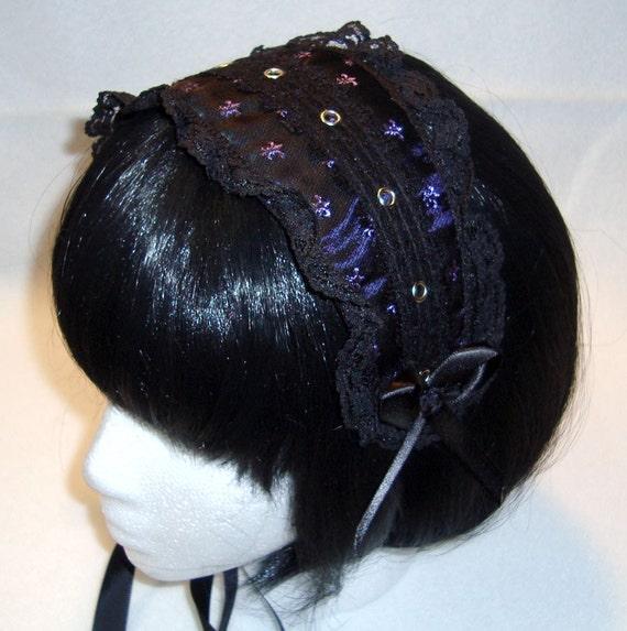 Purple Fleur Gothic Lolita Headdress