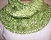 Neck Cowl Scarf / Available in any color / Green Neck Cowl / Pistachio Green Scarf / FREE Shipping / Made to order