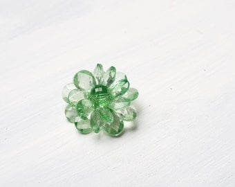 Lime Green Flower Pendant - Brooch or Pin