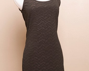 Black Midnight Shimmer Mini Dress