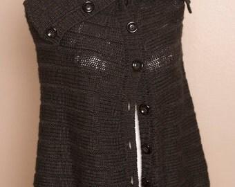 Into the Night Shawl- Cute Vintage Black Cloak
